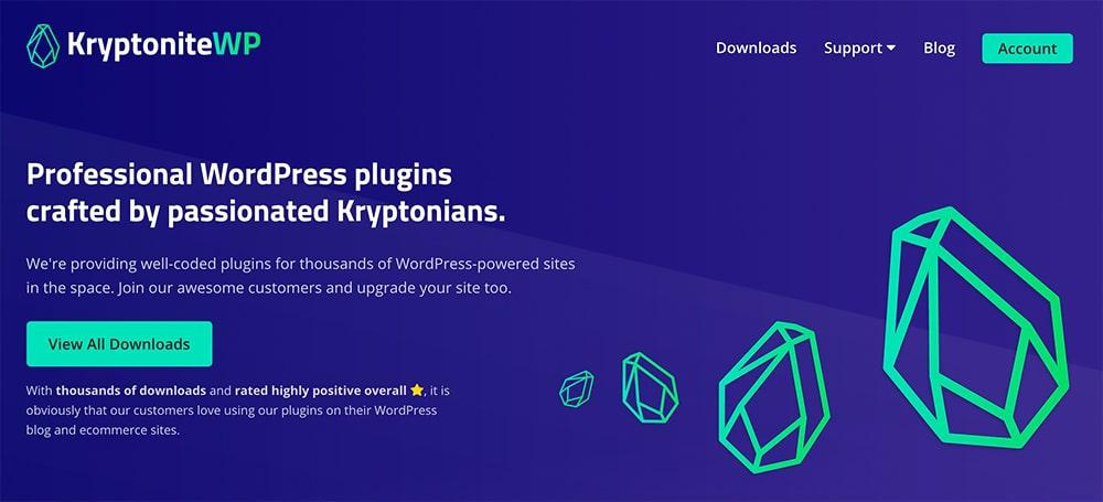KryptoniteWP Website 2020